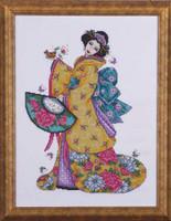 Golden Geisha Cross Stitch Kit By Design Works