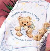 Cuddly Bear Quilt Cross Stitch Kit