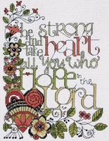 Be Strong Cross Stitch Kit By Design Works