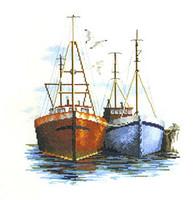 Fish Quay Cross Stitch Kit