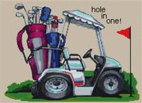 Hole In One Golfing Cross Stitch Kit