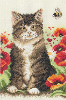 Cat And Bee Starter Cross Stitch Kit