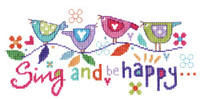 Sing And Be Happy Cross Stitch Kit By Stitching Shed