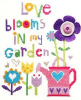 Love Blooms Cross Stitch Kit By Stitching Shed