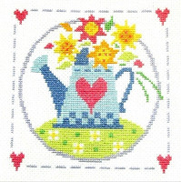Watering Can Cross Stitch Kit
