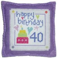 Birthday Cushion Cross Stitch Kit
