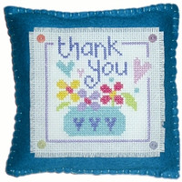 Thank You Cushion Cross Stitch Kit