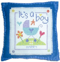 Boy Cushion Cross Stitch Kit