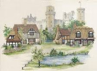 Warwickshire Village Cross Stitch Kit By Derwentwater