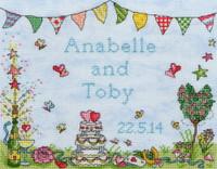 Wedding Celebration Cross Stitch Kit By Amanda Loverseed