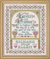 Loves Promise Cross Stitch Kit By Design Works