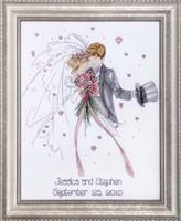 Wedding Couple Cross Stitch Kit By Design Works