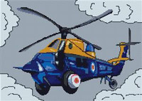 Rescue Helicopter Cross Stitch Chart