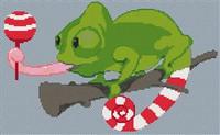 Chameleon Caricature Cross Stitch Chart