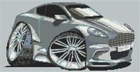Aston Martin Dbs Caricature Cross Stitch Chart