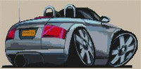 Audi Tt Cross Stitch Chart