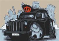Black Cab London Taxi Cross Stitch Chart