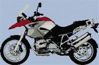 Bmw Gs Motorcycle Cross Stitch Chart