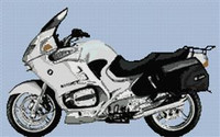 Bmw R1150Rt 2004 Motorcycle Cross Stitch Chart