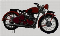 Bsa M20 Military Motorcycle Cross Stitch Chart
