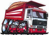 Volvo Dumper Truck Bulk Cross Stitch Chart