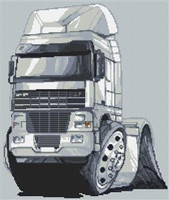 Daf 92 Truck Rig Cross Stitch Chart