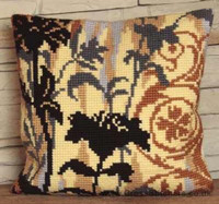 Silhouette A Gauche Chunky Cross Stitch Cushion Kit