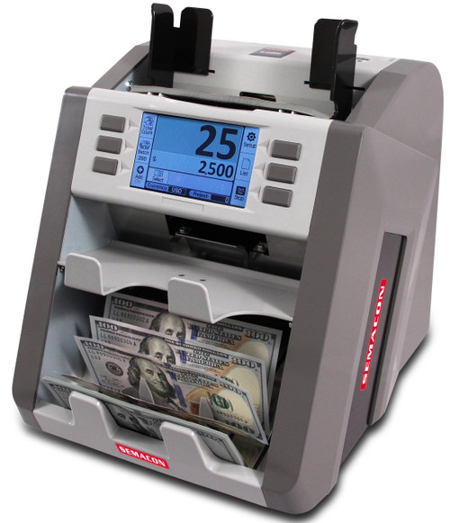 Semacon S-2500 Currency Discriminator 2-Pocket
