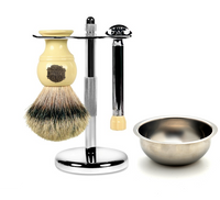 MY Essentials 4 Piece Shaving Set featuring the Merkur Progress