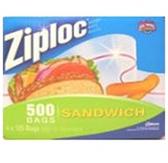 Ziploc Sandwich Bags-500ct