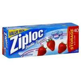 Ziploc Bags Food Storage Gallon - 40 Count