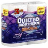 Quilted Northern Ultra Plush Double Roll Bathroom Tissue - 4 Rol