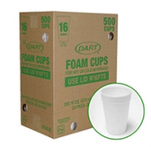 Dart Foam Cups-16oz/1000ct