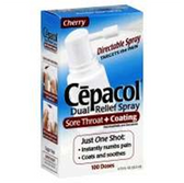 Cepacol Dual Relief Cherry Sore Throat Spray - .75 Fl. Oz.
