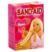 Johnson and Johnson Band Aid Barbie Bandages - 24 Count
