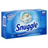 Snuggle Blue Sparkle Fabric Softner Sheets - 80 Count