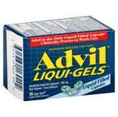 Advil Ibuprofen Liqui-Gel Capsules - 20 Count