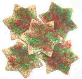 Red & Green Star Cookies - 14 oz.