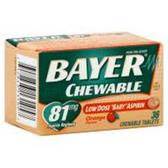 Bayer Orange Chewable Low Dose Asprin - 36 Count