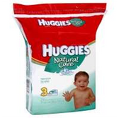 Huggies Natural Care Unscented 3x Mega Baby Wipes