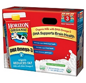 Horizon Organic Reduced Fat Milk w/DHA - 3 pk