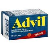 Advil Ibuprofen Caplets - 50 Count