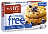 Van's Natural Foods - Gluten Free Blueberry Waffles -9oz