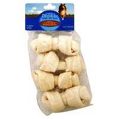 Knotted Rawhide Bones Dog Treats - 4 Count