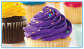 Assorted Color Cupcakes - 12 ct