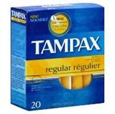 Tampax Original Regular Flushable Tampons - 20 Count