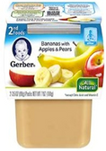 Gerber All-Natural -  Bananas with Apples & Pears -2ct