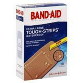Band Aid Tough-Strips Extra Large Waterproof Bandages - 10 Count