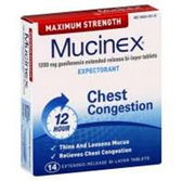 Mucinex Expectorant Tablets - 14 Count