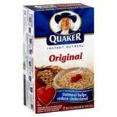 Quaker Oatmeal Original -12 pk